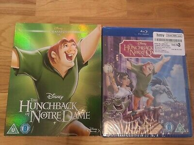 Disney Classic The Hunchback of Notre Damn Blu Ray with O Ring Cover