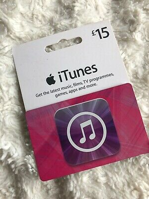 iTunes Apple Gift Card £15 UK Only
