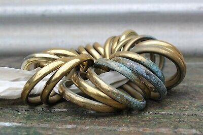 38 x French Vintage Solid Brass Large Curtain Rings 5.7cm Inner Diameter