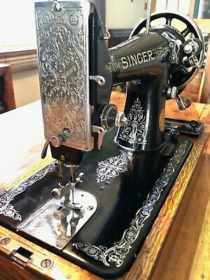Vintage (1939) Semi Industrial Singer 99K Hand Crank Sewing Machine Working