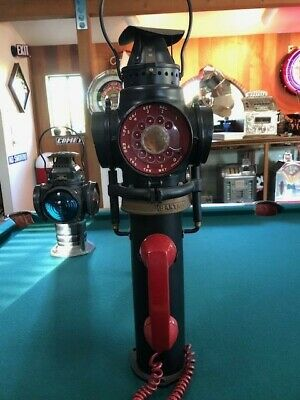 Santa Fe Train Switch One of a kind Lantern converted to stand up phone