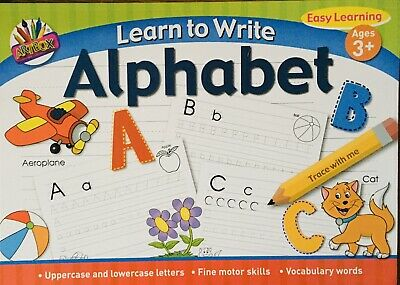 A4 Learn To Write Alphabet Easy ABC Children  School Paint Art  Craft Activity