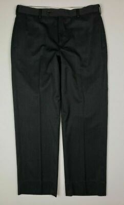 Brooks Brothers Madison Mens Gray Flat Front Wool Dress Pants Sz 34 x 29 D9