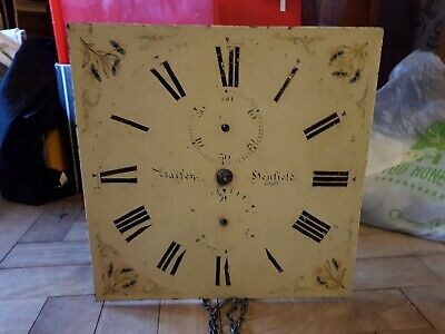 Longcase / Grandfather Clock Movement Painted Face Project