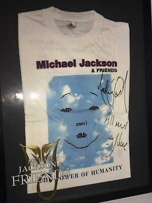Tee shirt MJ and Friends signé par Michael Jackson