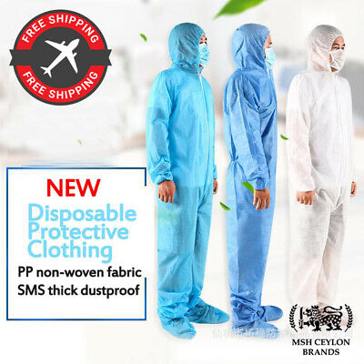 Protective Overall Safety Suit Coveralls Non-woven Waterproof Oil-Resistant disp