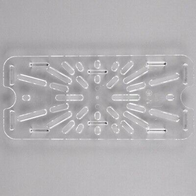 Cambro 30CWD Camwear 1/3 Size Clear Polycarbonate Drain Tray 6/Case*