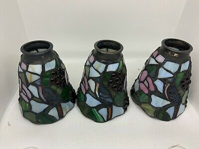 Tiffany Style Antique Stained Glass Fruit  Shades Light