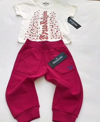 true religion Girls Tracksuit Pants And T Shirt Age 4 Yrs BNWT