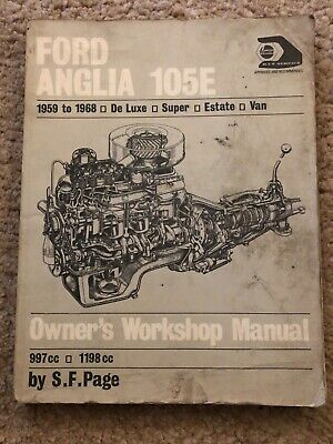 Owners workshop Manual Ford Anglia 105E 1959-1968 Deluxe Super Estate Vam