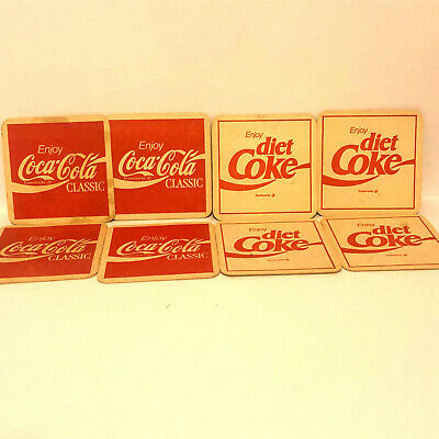 Vintage Coca Cola Diet Coke Cardboard Coasters Set of 8