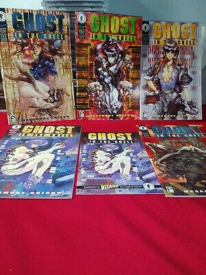 Ghost in the Shell #1,4,6,7,and 8 Near Mint + condition. Dark Horse comics
