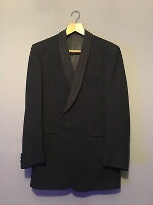 Vintage 60's Rackhams Tuxedo Dinner Suit Black Wool Jacket 40 Trousers 32/30