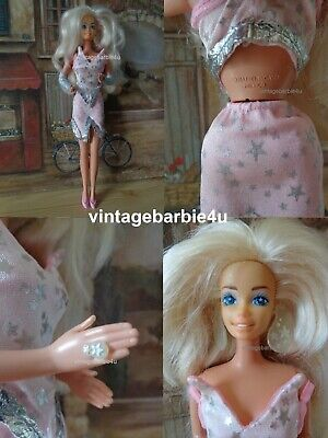 Vintage Superstar Barbie Doll Platinum Blonde MEXICO w Jewelry Mattel