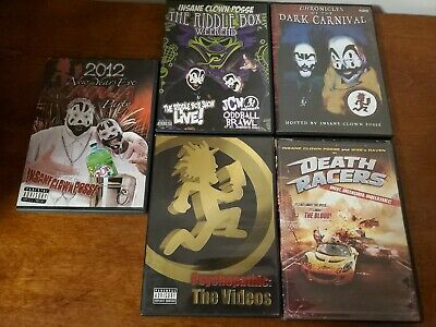 Lot of 5 Insane Clown Posse DVD's ICP Psychopathic Records