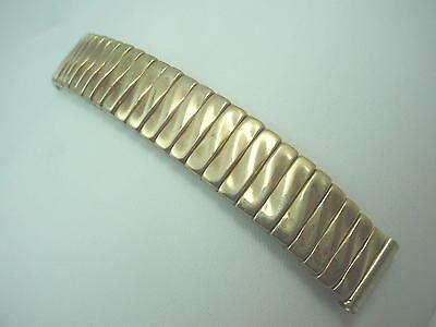 """Gold Tone 100% Expansion Vintage Watch Band Mens 16mm 5/8"""" New Old Stock"""