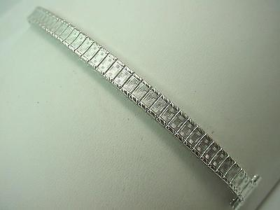 """watch Band Ladies Vintage Full Expansion Speidel 13mm 1/2"""" Rolled White Gold NOS"""