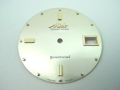Vintage Pearl Watch Dial Gold Dot Markers Mido 31.48mm Ocean Star Powerwind NOS