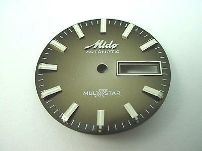 Mido automatic Multi Star Bronze Vintage Watch Dial 28.51mm Day & Date Window