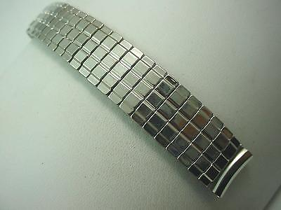 """16mm 5/8"""" Mens Vintage Watch Band Overhand Expansion Stainless Steel New Old St"""