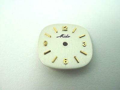 Mido Vintage Watch Dial Pearl TV Gold Stick Markers 15.64mm High and Wide NOS