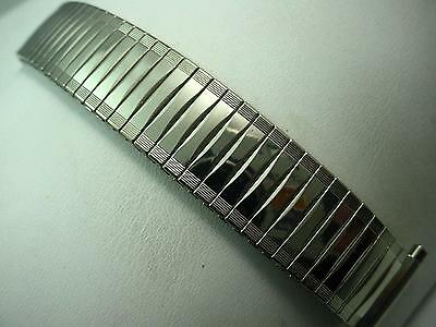 "Watch Band JB Champion Mens Fl Expansion Stainless 17mm-22mm 11/16""-7/8"" Vintage"