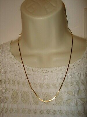 "Vintage 20"" Length 14k Solid Yellow Gold Chain Necklace Heavy 4.1 grams"
