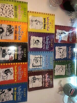 Diary of a Wimpy Kid Collection 12 Books Set by Jeff Kinney (Paperback,2010)