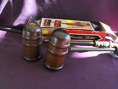 Vintage Wood Gavel Salt and Pepper Shakers - new in box