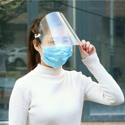 Safety Full Face Shield Clear Glasses Protector Anti-Fog Work Industry Wholesale