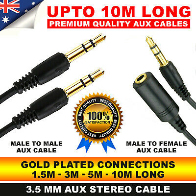 AUX Cable Male to Male Female Audio 3.5mm Headphone Stereo  audio Extension Cord