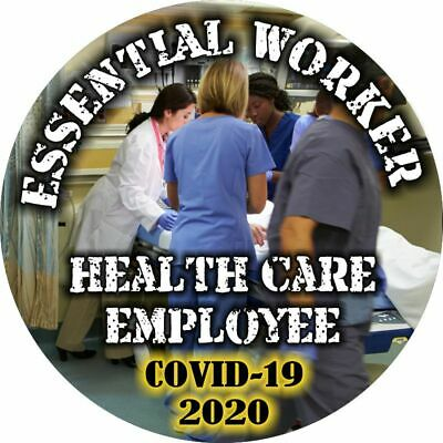 Essential Worker Sticker - Healthcare Worker Window Decal - Various Sizes