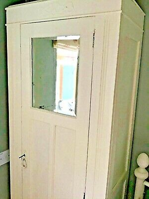 Victorian Wardrobe / Vintage/antique/ Shabby Chic, single, slim