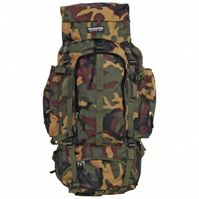 Extreme Pattern Camouflage Water-Resistant, Heavy-Duty Mountaineer Backpack