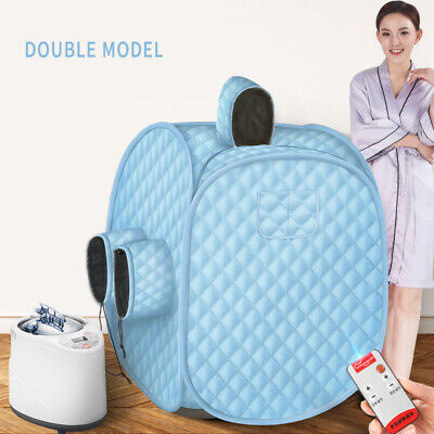 2L Steam Sauna Spa Room Home Full Body Slimming Folding Detox Therapy Portable