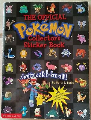 The Official Pokemon Collector's Sticker Book 1999 Scholastic