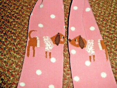 new Girls pink  Spotted DOG Tights 2 -3 years - BNWOT - super cute