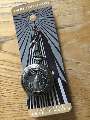 Empire State Building Pocket Watch New York Fashion