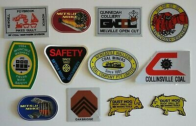 12 Mixed Mining Stickers