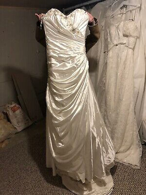 EXSAMPLE Maggie Sottero Couture Sparkly Wedding Dress Size 6 Corset Back