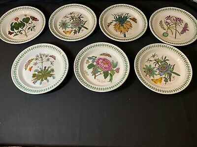 Portmeirion The Botanic Garden A Collection of 7 10.5 inch Dinner Plates