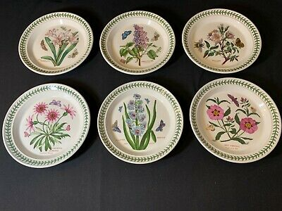 Portmeirion The Botanic Garden A Collection of SIX 8.5 inch Dinner Plates