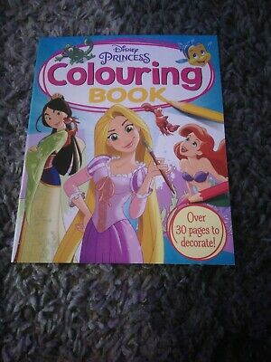 Disney Princess Colouring Book - Over 30 Pages To Decorate