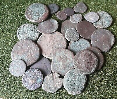 Lot of worn Roman coins