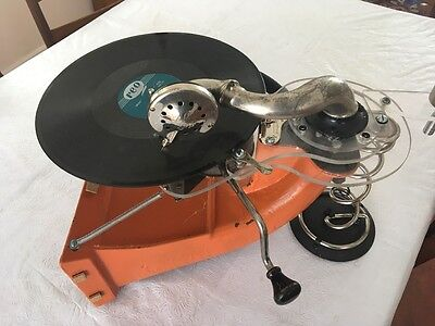 Antique phonograph wind up functional steam punk