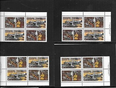 CANADA 1978  NATURAL RESOURCES  14 CENTS  M.,S. of 4 PLATE BLOCKS # 765-66