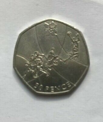**Olympics - 2011 Basketball- 50p Fifty Pence Coin - Circulated **