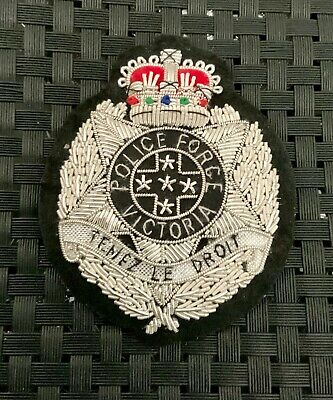 Victoria Police.  CHIEF COMMISSIONER'S BULLION BADGE. *c1955-63.