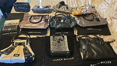 Karen Millen Hand Bag Collection And 2 Purses All Good Condition Job Lot
