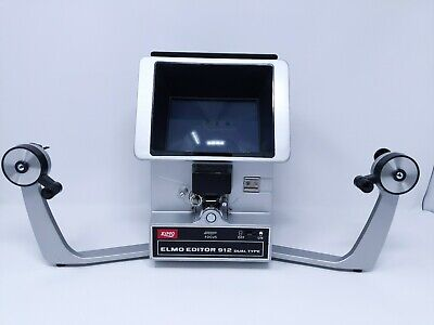 Elmo Editor 912 Dual Type 8mm Film Viewer Dual Arm Vintage Japan Working Clean